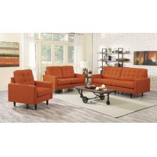 Kesson Mid-century Modern Burnt Orange Three-piece Living Room Set