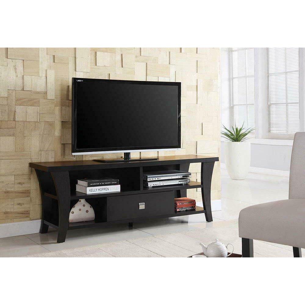 Transitional Cappuccino TV Console