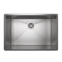 Brushed Stainless Steel Forze Single Bowl Stainless Steel Kitchen Sink