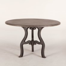 """French Vintage Round Dining 48"""" Marble"""