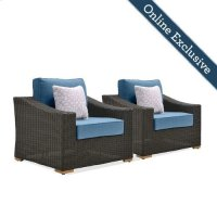 New Boston Wicker Patio Lounge Chairs Product Image