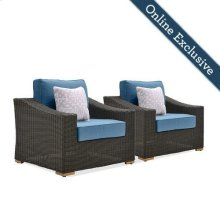 New Boston Wicker Patio Lounge Chairs