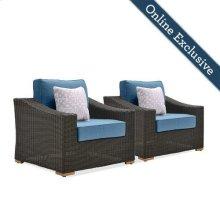 New Boston Wicker Patio Lounge Chairs
