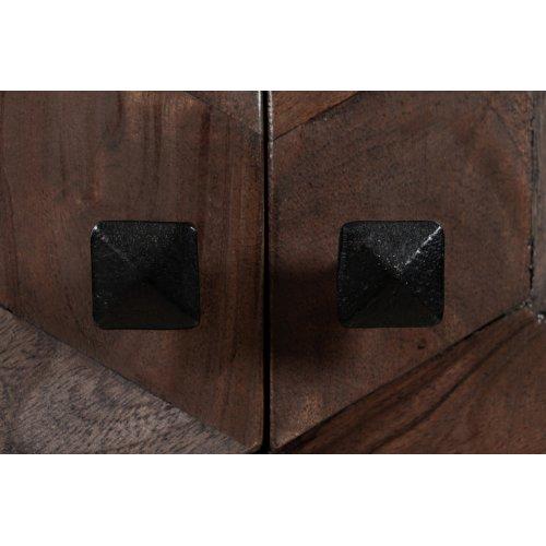Geometrix 4 Door Accent Cabinet- D Platinum