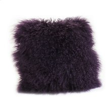 Lamb Fur Pillow Purple