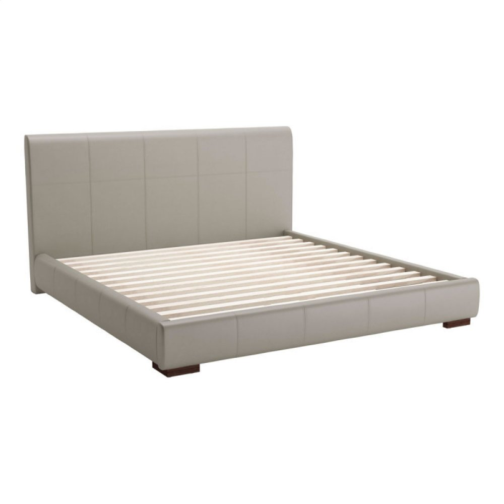 Amelie King Bed Gray