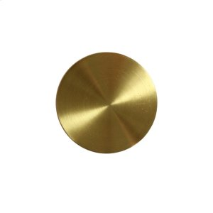 Flat Front- Convex Bottom Knob In Antique Brass Product Image