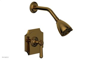 MARVELLE Pressure Balance Shower Set - Lever Handle 162-22 - French Brass Product Image