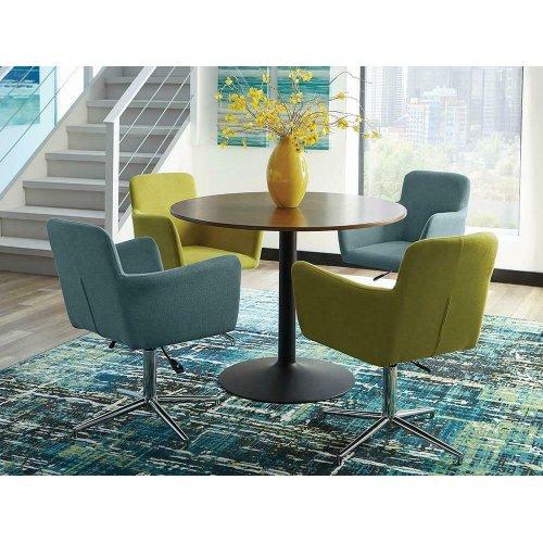 Modern Blue Adjustable Dining Chair