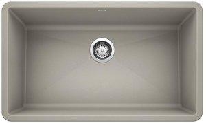 Blanco Precis Super Single Bowl - Concrete Gray Product Image