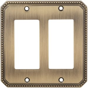 Double Rocker Beaded Switchplate in (SB Shaded Bronze, Lacquered) Product Image