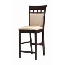 Gabriel Cappuccino Exposed Wood Counter Stool