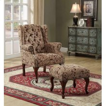 Queen Anne Light Brown Accent Chair