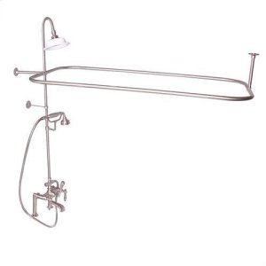 Code Rectangular Shower Unit - Lever with Finials / Brushed Nickel Product Image