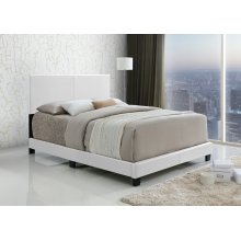 Jessica White Upholstered Queen Bed