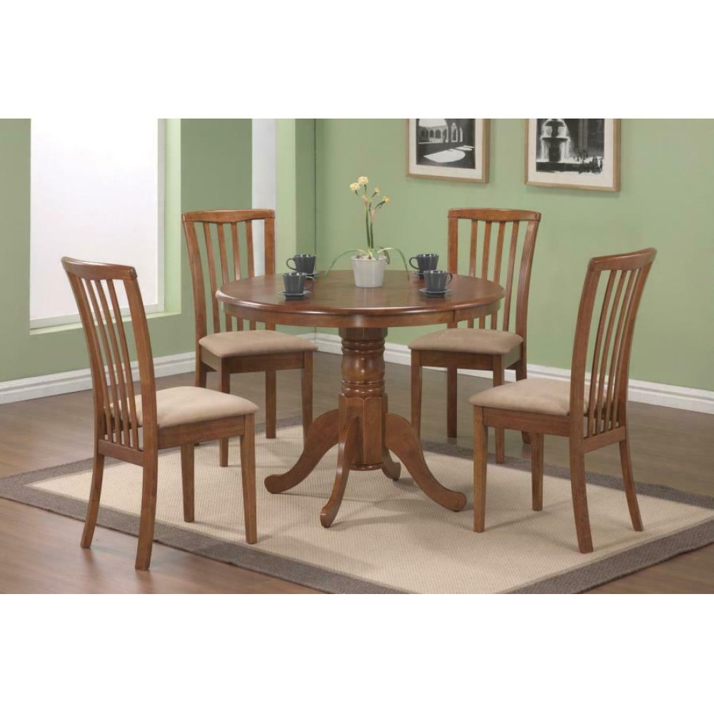 Brannan Casual Oak Dining Five-piece Set