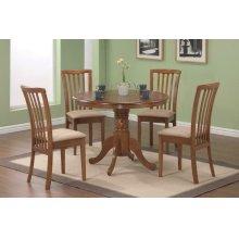 Brannan Casual Oak Dining Five-piece Set