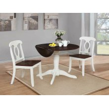 Bremerton Rich Brown and White Dining Table