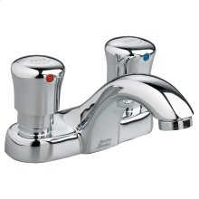 Metering 4-inch Centerset Commercial Faucet - 0.5 gpm - Polished Chrome