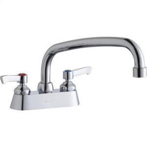 """Elkay 4"""" Centerset with Exposed Deck Faucet with 10"""" Arc Tube Spout 2"""" Lever Handles Product Image"""