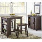 Madison County 3pc Counter Height Set - Barnwood Product Image