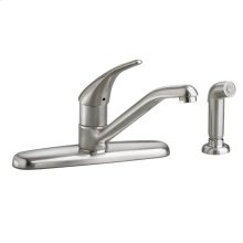 Colony Soft 1-Handle Kitchen Faucet with Separate Side Spray - Stainless Steel
