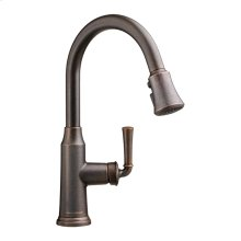 Portsmouth 1-Handle Pull Down High-Arc Kitchen Faucet  American Standard - Oil Rubbed Bronze