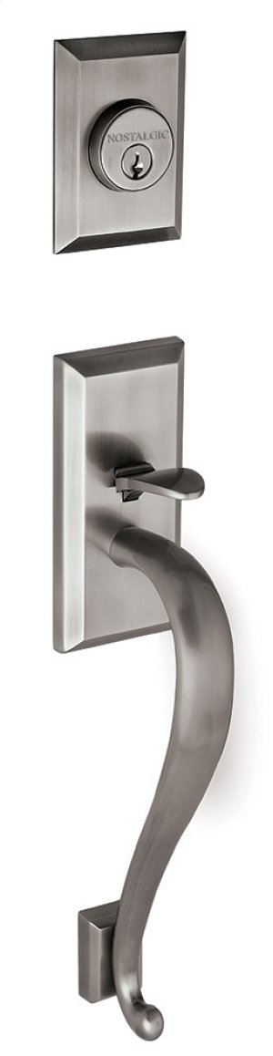 Nostalgic - Handleset Exterior Half - New York with S-Grip in Antique Pewter Product Image