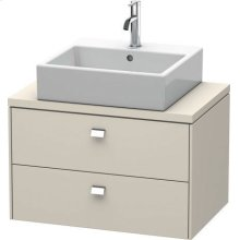 Brioso Vanity Unit For Console Compact, Taupe Matte (decor)