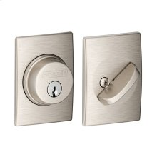Single Cylinder Deadbolt with Century trim - Satin Nickel