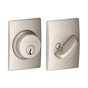 Single Cylinder Deadbolt with Century trim - Satin Nickel Product Image