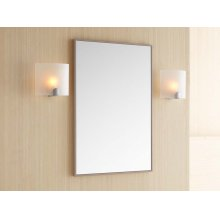 "Contemporary 23"" x 30"" Solid Wood Framed Bathroom Mirror in Blush Taupe"