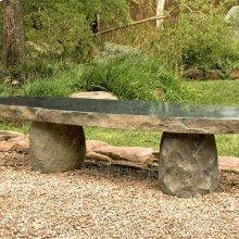 Boulder Slab Bench