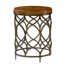 Hidden Treasures Round Lamp Table