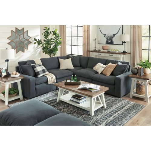 Savesto - Charcoal 5 Piece Sectional