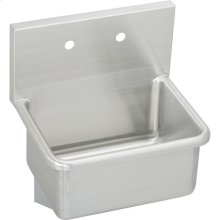 """Elkay Stainless Steel 23"""" x 18-1/2"""" x 12, Wall Hung Service Sink"""