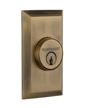 Nostalgic - Double Cylinder Deadbolt Keyed Differently - Studio in Antique Brass Product Image