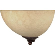 "1-Light 12"" Old Bronze Wall Sconce with Tuscan Suede Glass"
