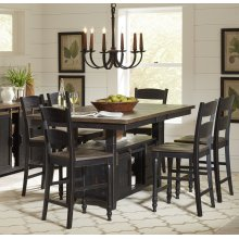 TABLE (Top & Bottom) & 6 CHAIRS