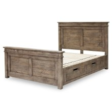 Settler King Storage Bed-sundried Ash