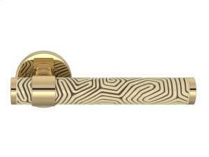 Stepped Recess Amalfine Labyrinth In Sand And Polished Brass Product Image