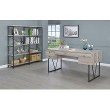 Industrial Grey Driftwood Writing Desk