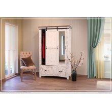 2 Drawer, 1 Sliding door, 1 Door Armoire