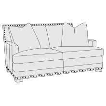 Cantor Loveseat in Mocha (751)