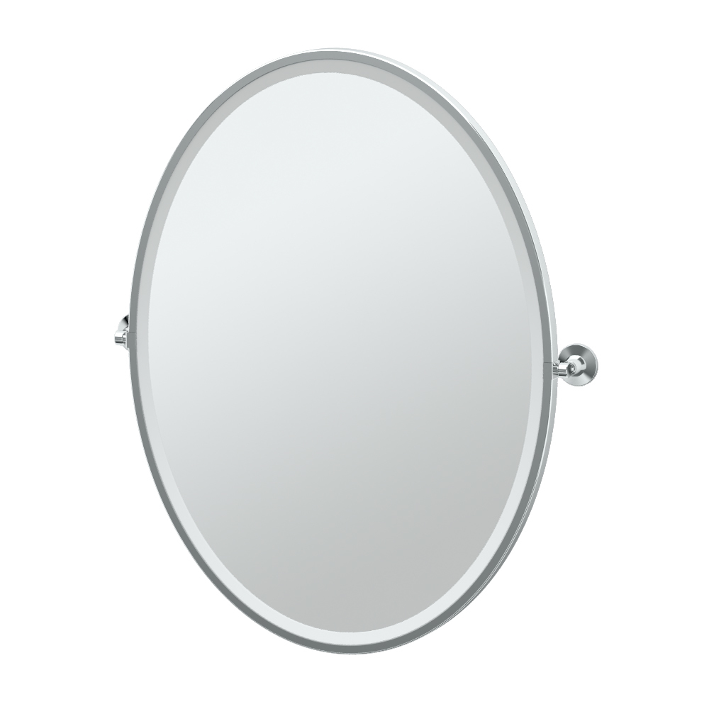 Max Framed Oval Mirror in Chrome