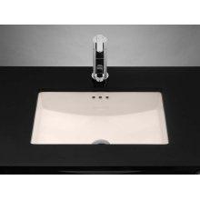 Rectangle Ceramic Undermount Bathroom Sink in Biscuit