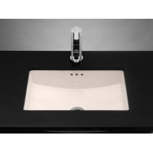 Rectangle Ceramic Undermount Bathroom Sink in Biscuit