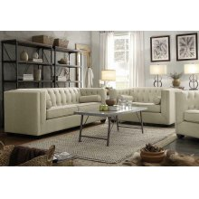 Cairns Transitional Beige Two-piece Living Room Set