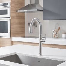 Studio S Pull-Down Dual Spray Kitchen Faucet  American Standard - Stainless Steel