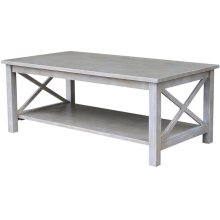 Hampton Coffee Table in Taupe Gray